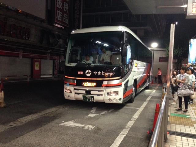 ハリーポッタートレインの旅(夜行バス)