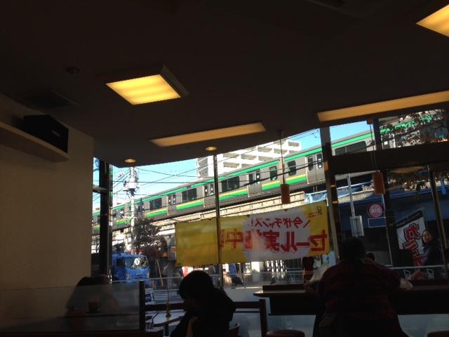 電車の見える店